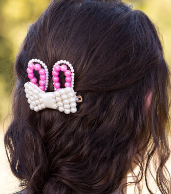 Make A Beaded Easter Bunny Hair Bow
