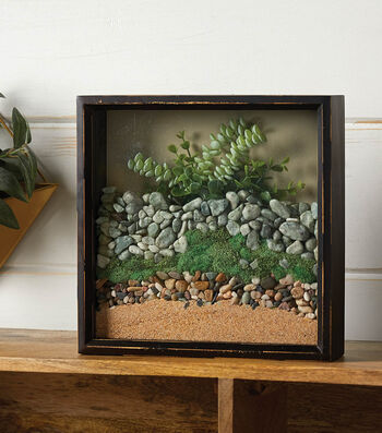 How To Make A Sand And Rock Shadow Box
