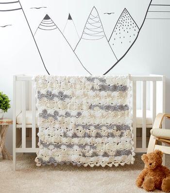 How To Make a Bernat Baby Bundle Half Moon Crochet Baby Blanket