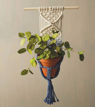 How To Make A Macrame Dip Dyed Hanging Planter