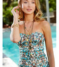 Turquoise and Gold Swimsuit, Lizzie Beach Jewelry, and Bracelets
