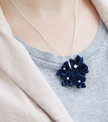 How To Make A Ribbon Rosette Necklace