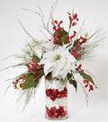 Glass Cylinder Christmas Arrangement