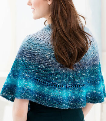 How To Make A Lion Brand Shawl In A Ball Easy Half Circle Shawl