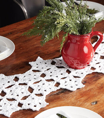 How To Make a Bernat Starflake Crochet Table Runner