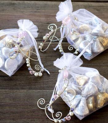 Make Beaded Monogram Wedding Favors