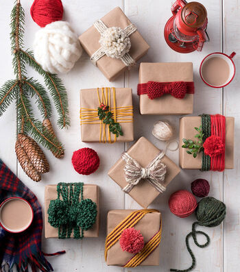 How To Make a Lion Brand Yarn Holiday Wrappings
