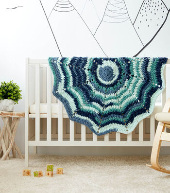 How To Make a Bernat Baby Bundle Rippling Rounds Crochet Baby Blanket