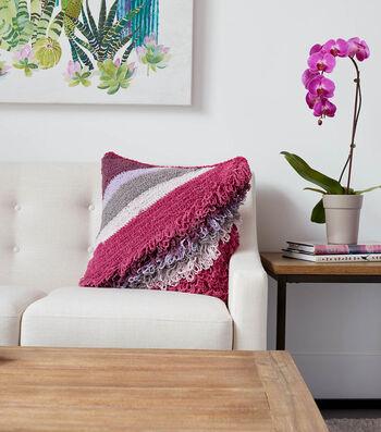 How To Make a Bernat Blanket Breezy Breezy Loop Crochet Cushion