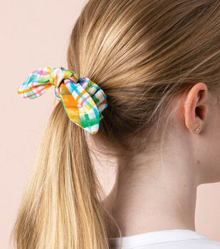 How To Make Cotton Bow Hair Scrunchies