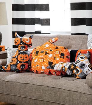 How To Make A Cat, Bat and Pumpkin Pillows