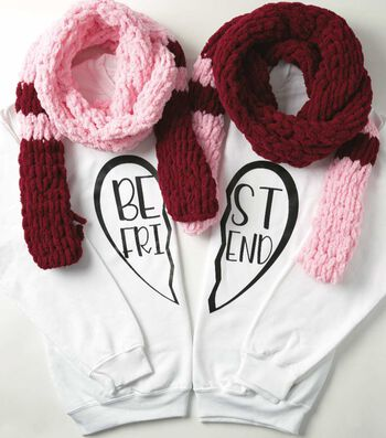 How To Make A Set of Best Friend Scarves With Loop Yarn