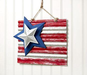 DIY Patriotic Metal Flag