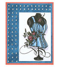 Rose Corset Denim and Studs Card