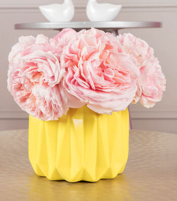 How To Make A COLORSHOT Yellow Vase