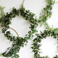 How To Make a Greenery Wreath Backdrop