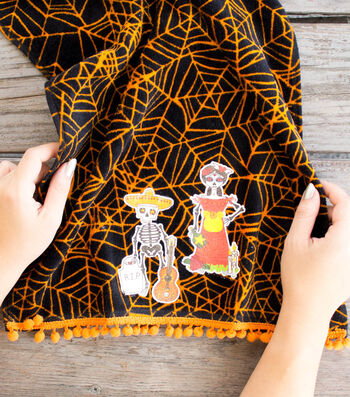 How To Make A Halloween Day of the Dead Hand Towel