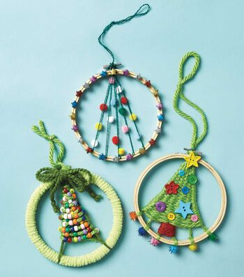 How To Make A Christmas Tree Weaving Hoop