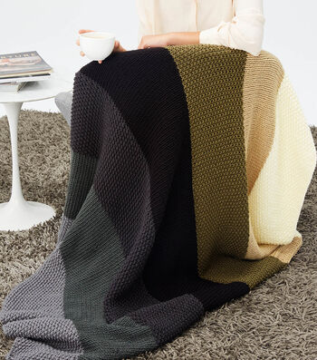 How To Make A Lion Brand Color Made Easy Simple Striped Afghan