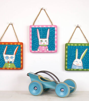 Bunny Family Wall Trio