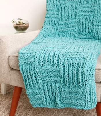 How To Make A Big Basketweave Blanket
