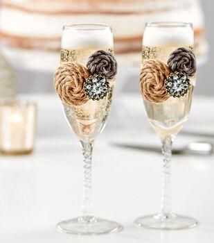 How To Make Bridal Toasting Glasses