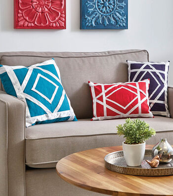 How To Make Ribbon Embellished Pillows