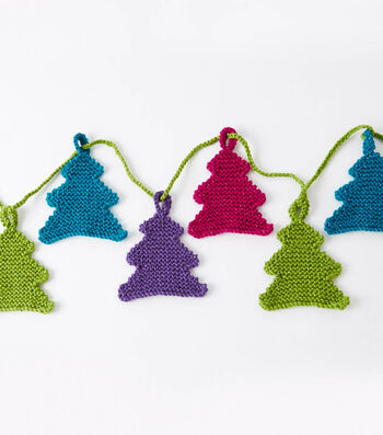 How To Make a Caron Happy Little Trees Garland