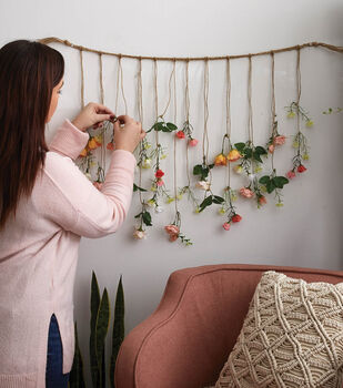 How To Make a Falling Floral Wall Hanging
