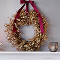 How To Make a Metallic Painted Wreath