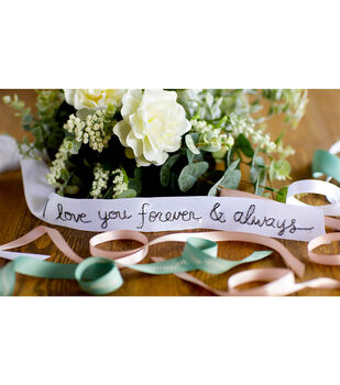 How To Make an Embroidered Ribbon for Bouquet