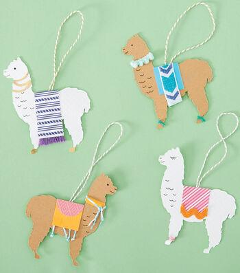 How To Make A Paper Llama Ornaments