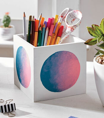 How To Make An Ombre Desk Organizer