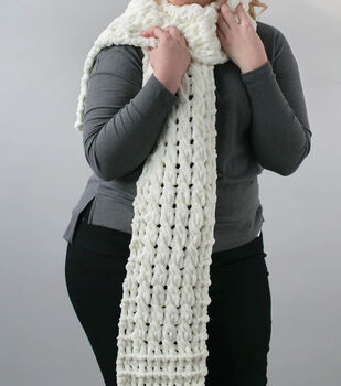 How to Make a Bernat alize EZ Cable Scarf