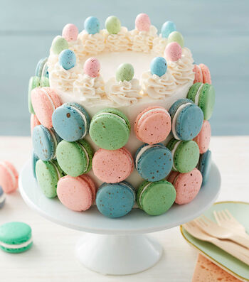 How To Make a Macaron Spatter Cake