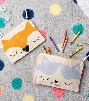 How To Make Painted Fox and Cat Pouches