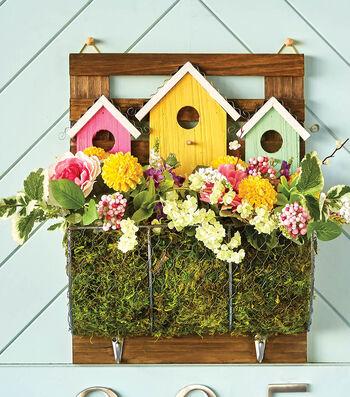 How To Make A Wood BirdHouse Springtime Planter