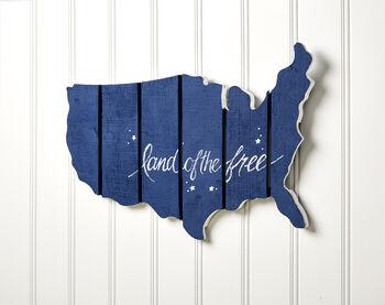 USA Unfinished Wood Flag