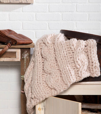 How To Make A Jumbo Cable Blanket