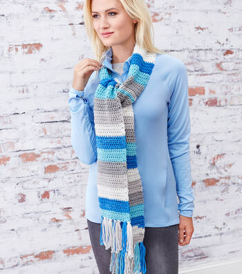 How To Make A Striping Crochet Scarf