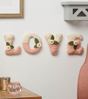 How To Make a Yarn Wrapped Love Letters
