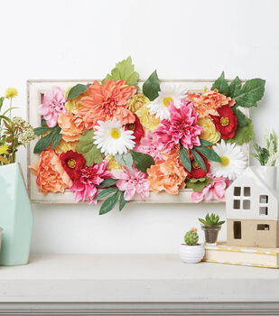How To Make a Floral Shadow Box Frame