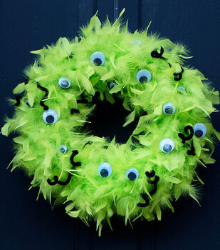 How To Make A Halloween Monster Wreath