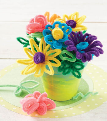 Chenille Flower Pot Arrangement