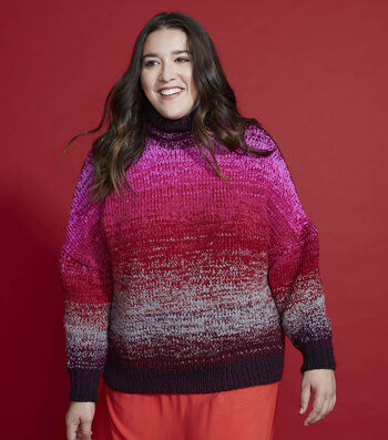 How To Make a Lion Brand Amazing Lace Gradient Pullover