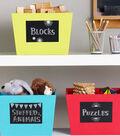 Idea Market Back to School Chalkboard Storage Bins