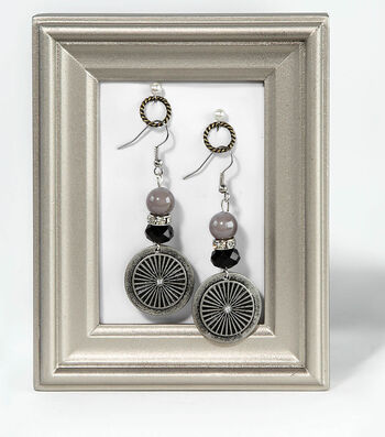 Black and Silver Earring Set