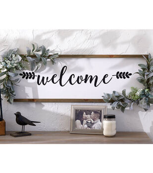 How To Make a Welcome Floral Sign