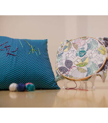 Hand Embroidered Art Pillow