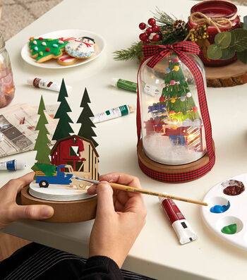 How To Make Painted Lighted Holiday Domes